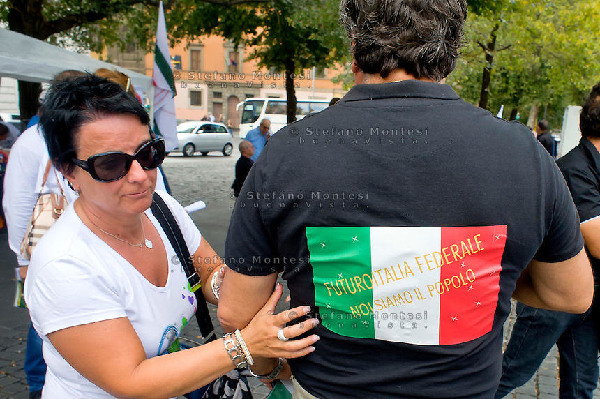 Roma 6 Settembre 2014<br />  Prima manifestazione nazionale &quot;Orgoglio Italiano&quot;.<br /> Per dire basta allo stupro della nostra patria, all' illeggittimit&agrave; della classe politica, per chiedere le dimissioni del governo, e la chiusura immediata delle frontiere italiane.<br /> Rome September 6, 2014 <br />  First national demostration  &quot;Italian Pride&quot;. <br /> To say stop the rape of our country, to illegitimacy of the political class, to demand the resignation of the government, and the immediate closure of the Italian borders.