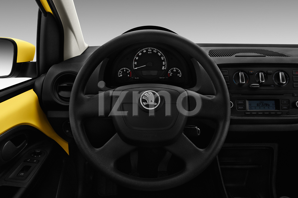 Car pictures of steering wheel view of a 2016 Skoda Citigo Ambition 3 Door hatchback Steering Wheel