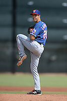 Texas Rangers pitcher Luke Lanphere (20) during an Instructional League game against the Cincinnati Reds on October 7, 2013 at Goodyear Training Complex in Goodyear, Arizona.  (Mike Janes/Four Seam Images)