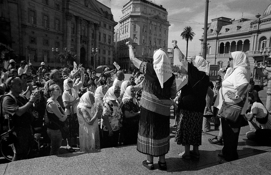"Thursday in Plaza de Mayo, Buenos Aires. The mothers of the ""desaparecidos"", desappeared, demostrating weekly since the period of the dictatorship."