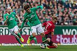 02.11.2019, wohninvest WESERSTADION, Bremen, GER, 1.FBL, Werder Bremen vs SC Freiburg<br /> <br /> DFL REGULATIONS PROHIBIT ANY USE OF PHOTOGRAPHS AS IMAGE SEQUENCES AND/OR QUASI-VIDEO.<br /> <br /> im Bild / picture shows<br /> Yuya Osako (Werder Bremen #08) im Duell / im Zweikampf mit Philipp Lienhart (SC Freiburg #03), <br /> <br /> Foto © nordphoto / Ewert