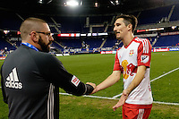 Harrison, NJ - Thursday Sept. 15, 2016: Sacha Kljestan after a CONCACAF Champions League match between the New York Red Bulls and Alianza FC at Red Bull Arena.