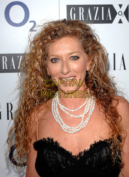 KELLY HOPPEN.The Grazia O2 Awards, Sunbeam Studio, London, England. .July 19th, 2007 .headshot portrait pearl necklace .CAP/FIN.©Steve Finn/Capital Pictures
