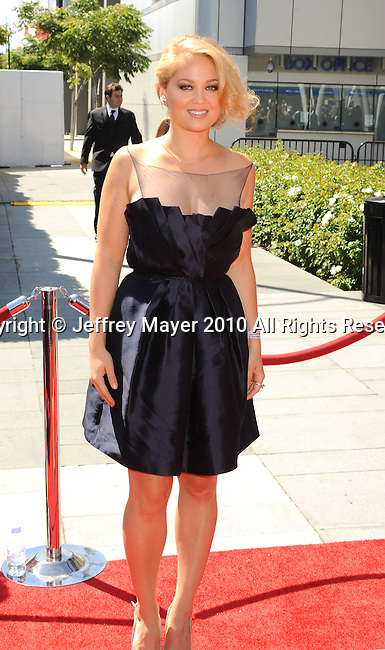 LOS ANGELES, CA. - August 21: Erika Christensen arrives at the 62nd Primetime Creative Arts Emmy Awards at Nokia Theatre LA Live on August 21, 2010 in Los Angeles, California.