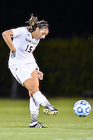 Texas State midfielder Maddie Nichols (15) during an NCAA soccer game, Sunday, September 21, 2014 in San Marcos, Tex. Texas defeated Texas State 2-0. (Mo Khursheed/TFV Media via AP Images)