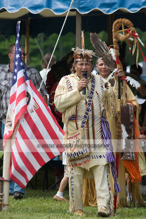 Native American in traditional regalia at the 8th Annual Red Wing PowWow in Virginia Beach, Virginia.