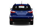Straight rear view of a 2018 Ford Ecosport Business Class 5 Door SUV stock images