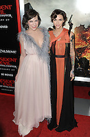 www.acepixs.com<br /> <br /> January 23 2017, LA<br /> <br /> Milla Jovovich (L) and Ruby Rose arriving at the premiere of 'Resident Evil: The Final Chapter' at the Regal LA Live on January 23, 2017 in Los Angeles, California.<br /> <br /> By Line: Peter West/ACE Pictures<br /> <br /> <br /> ACE Pictures Inc<br /> Tel: 6467670430<br /> Email: info@acepixs.com<br /> www.acepixs.com
