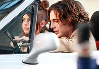 NEW YORK, NY September 11, 2017  Selena Gomez, Timothee Chalamet shooting on location for Untitled Woody Allen Project in New York September 11,  2017.<br /> CAP/MPI/RW<br /> &copy;RW/MPI/Capital Pictures
