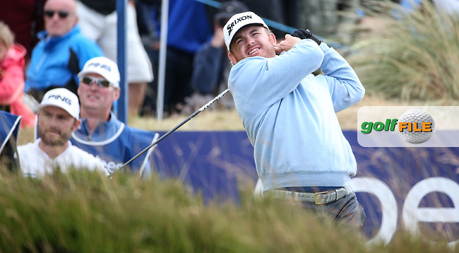 JB Holmes (USA) during Round Two of the 2016 Aberdeen Asset Management Scottish Open, played at Castle Stuart Golf Club, Inverness, Scotland. 08/07/2016. Picture: David Lloyd | Golffile.<br /> <br /> All photos usage must carry mandatory copyright credit (&copy; Golffile | David Lloyd)