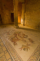 Mosaic of Venus and Centaurs, Underground Palace (House of the Hunt), Roman archeological ruins, Paleo-Christian Quarter, Bulla Regia, Tunisia