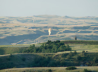 Landscape near Williston, North Dakota where there is a sharp rise in shale drilling for oil in the large Bakken Formation, Thursday, July 18, 2012. ..Photo by MATT NAGER