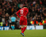 Mohamed Salah of Liverpool dejected  during the UEFA Champions League match at Anfield, Liverpool. Picture date: 11th March 2020. Picture credit should read: Darren Staples/Sportimage
