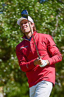 Aaron Baddeley (AUS) watches his tee shot on 2 during round 4 of the Valero Texas Open, AT&amp;T Oaks Course, TPC San Antonio, San Antonio, Texas, USA. 4/23/2017.<br /> Picture: Golffile | Ken Murray<br /> <br /> <br /> All photo usage must carry mandatory copyright credit (&copy; Golffile | Ken Murray)