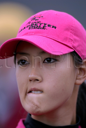 31 July 2005: Portrait of American golfer Michelle Wie (USA) during the presentation after the Weetabix Women's British Open Championship played at Royal Birkdale. Wie finished on  10 under to win the Smyth Salver, for the top finishing amateur. Photo: Glyn Kirk/Actionplus....050731 woman ladies