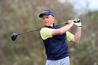 Michael Flanagan (Portumna) on the 1st tee during the Final of the AIG Senior Cup in the AIG Cups & Shields Connacht Finals 2019 in Westport Golf Club, Westport, Co. Mayo on Sunday 11th August 2019.<br /> <br /> Picture:  Thos Caffrey / www.golffile.ie<br /> <br /> All photos usage must carry mandatory copyright credit (© Golffile | Thos Caffrey)