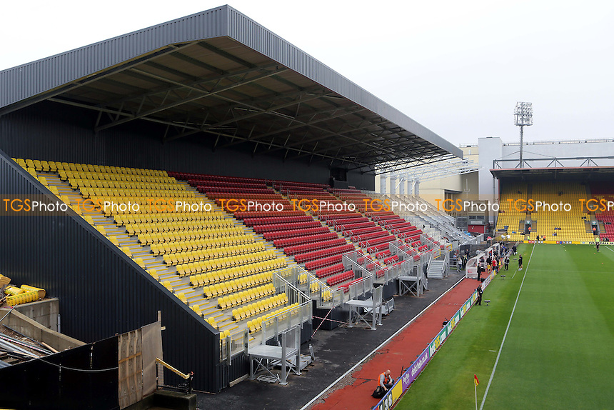 Watford's new Stand nears completion - Watford vs AFC Bournemouth - Sky Bet Championship Football at Vicarage Road Stadium, Watford, Hertfordshire - 20/09/14 - MANDATORY CREDIT: Paul Dennis/TGSPHOTO - Self billing applies where appropriate - contact@tgsphoto.co.uk - NO UNPAID USE