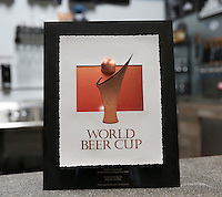August 8, 2016. I Vista, CA. USA.   Toolbox Brewing World Beer Cup 2016 Bronze medal for Wood and Barrel aged Sour Beer.   Photos by Jamie Scott Lytle. Copyright.