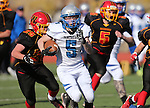 Pahranagat Valley's David Ingram runs in the first half of the NIAA DIV championship game against Whittell High at Dayton High School in Dayton, Nev., on Saturday, Nov. 21, 2015. PVHS leads 30-6 at halftime. (Cathleen Allison/Las Vegas Review Journal)