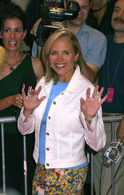"""Opening night for Broadway's newest and hottest show, """"Hairspray"""" at Neil Simon Theatre. New York, August 15, 2002. Pictured is KATIE COURIC. Please byline: Alecsey Boldeskul/NY Photo Press.   ..*PAY-PER-USE*      ....NY Photo Press:  ..phone (646) 267-6913;   ..e-mail: info@nyphotopress.com"""