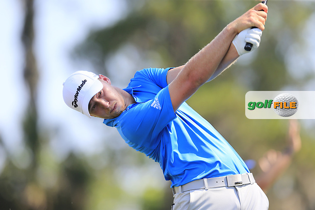Daniel Berger (USA) during round 1of the Players, TPC Sawgrass, Championship Way, Ponte Vedra Beach, FL 32082, USA. 12/05/2016.<br /> Picture: Golffile | Fran Caffrey<br /> <br /> <br /> All photo usage must carry mandatory copyright credit (&copy; Golffile | Fran Caffrey)
