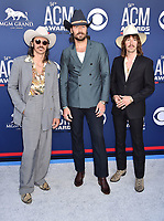 LAS VEGAS, CA - APRIL 07: (L-R) Jess Carson, Mark Wystrach and Cameron Duddy of Midland attend the 54th Academy Of Country Music Awards at MGM Grand Hotel &amp; Casino on April 07, 2019 in Las Vegas, Nevada.<br /> CAP/ROT/TM<br /> &copy;TM/ROT/Capital Pictures