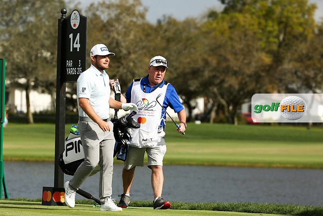 Tyrrell Hatton (ENG) and caddy Michael Donaghy during the final round of the Arnold Palmer Invitational presented by Mastercard, Bay Hill, Orlando, Florida, USA. 08/03/2020.<br /> Picture: Golffile | Scott Halleran<br /> <br /> <br /> All photo usage must carry mandatory copyright credit (© Golffile | Scott Halleran)