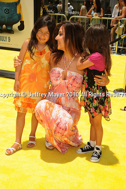 "LOS ANGELES, CA. - June 27: Maria Canals-Barrera and children arrive at the 2010 Los Angeles Film Festival - ""Despicable Me"" Premiere on June 27, 2010 in Los Angeles, California."