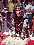 Alice Cooper 1991 Hollywood Rock Walk.© Chris Walter.