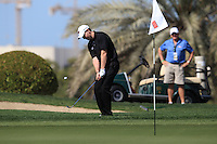 Stephen Gallacher (SCO) chips onto the 8th green during Sunday's Final Round of the 2012 Omega Dubai Desert Classic at Emirates Golf Club Majlis Course, Dubai, United Arab Emirates, 12th February 2012(Photo Eoin Clarke/www.golffile.ie)
