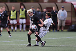SALEM, VA - DECEMBER 3:Isky Van Doorne (26) of Calvin College battles for the ball during theDivision III Men's Soccer Championship held at Kerr Stadium on December 3, 2016 in Salem, Virginia. Tufts defeated Calvin 1-0 for the national title. (Photo by Kelsey Grant/NCAA Photos)
