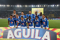 BOGOTA -COLOMBIA, 28-02-2017. Team of Millonarios.Action game between Milonarios and Equidad during match  for the date 6 of the Aguila League I 2017 played at Nemesio Camacho El Campin stadium . Photo:VizzorImage / Felipe Caicedo  / Staff