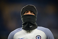 Michy Batshuayi of Chelsea during the pre match warm ups ahead of the Carabao Cup semi final 1st leg match between Chelsea and Arsenal at Stamford Bridge, London, England on 10 January 2018. Photo by Andy Rowland.