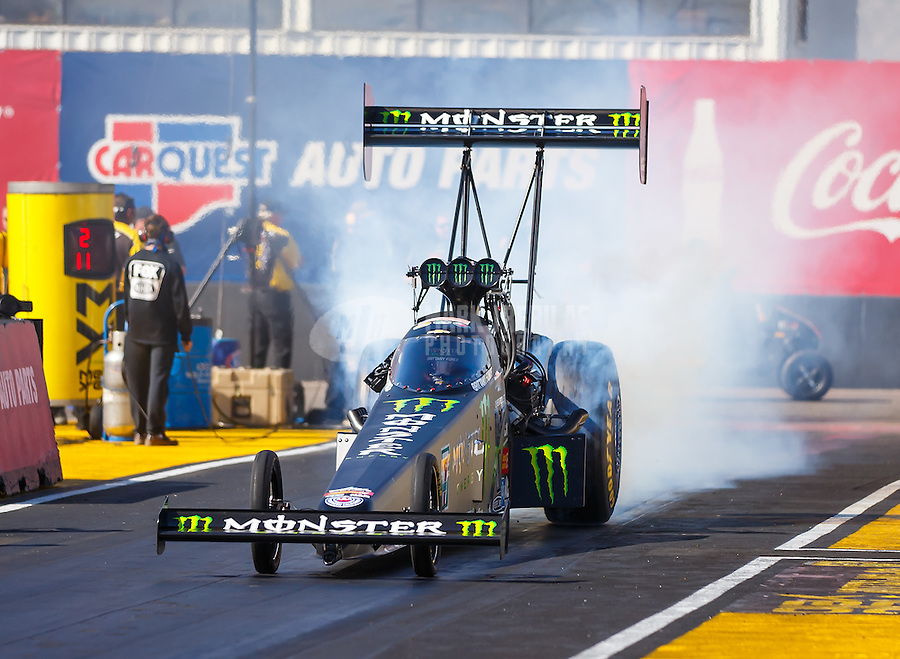 Feb 26, 2017; Chandler, AZ, USA; NHRA top fuel driver Brittany Force during the Arizona Nationals at Wild Horse Pass Motorsports Park. Mandatory Credit: Mark J. Rebilas-USA TODAY Sports