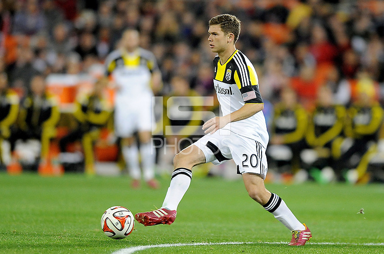 Washington D.C. - March 8, 2014: Wil Trapp (20) of the Columbus Crew.  The Columbus Crew defeated D.C. United 3-0 during the opening game of the 2014 season at RFK Stadium.