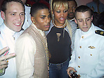 Nelly & Eve with Navy Soldiers.Justin Timberlake & Nelly's Post Grammy Party.Capitale Nightclub.Sunday, February 23, 2003..New York, NY, USA.Photo By Celebrityvibe.com/Photovibe.com...
