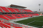 27 April 2007: A view of the main West Stand taken from the South Stand.  BMO Field in Toronto, Ontario, Canada on the day before it was scheduled open with the inaugural home match of Major League Soccer expansion team Toronto FC.