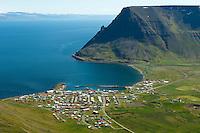 Bolungarvík til austurs / Bolungarvik viewing east.