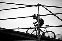 Christine 'Peanut' Vardaros (USA) up the bridge<br /> <br /> Duinencross Koksijde WorldCup 2015