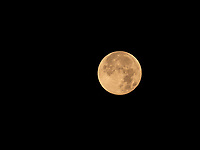 Setting full Moon, Blood Moon, January 31, 2018 Manila Philippines