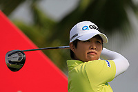 Haru Nomura (JPN) in action on the 12th during Round 1 of the HSBC Womens Champions 2018 at Sentosa Golf Club on the Thursday 1st March 2018.<br /> Picture:  Thos Caffrey / www.golffile.ie<br /> <br /> All photo usage must carry mandatory copyright credit (&copy; Golffile | Thos Caffrey)