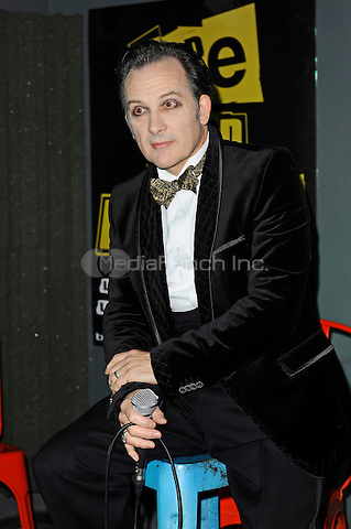 LONDON, ENGLAND - OCTOBER 22: Dave Vanian of 'The Damned' attending a Q and A session at the Hope and Anchor, Islington on October 22, 2016 in London, England.<br /> CAP/MAR<br /> &copy;MAR/Capital Pictures /MediaPunch ***NORTH AND SOUTH AMERICAS ONLY***