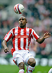 Ricardo Fuller of Stoke City during the Championship League match at The Britannia Stadium, Stoke. Picture date 4th May 2008. Picture credit should read: Simon Bellis/Sportimage