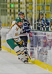 14 February 2015: University of Vermont Catamount Forward Bridget Baker, a Sophomore from Los Gatos, CA, in second period action against the University of New Hampshire Wildcats at Gutterson Fieldhouse in Burlington, Vermont. The Lady Catamounts rallied from a 3-1 deficit to earn a 3-3 tie in the final home game of their NCAA Hockey East season. Mandatory Credit: Ed Wolfstein Photo *** RAW (NEF) Image File Available ***