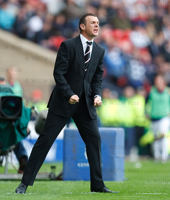 Jim McIntyre urges his Dunfermline side on