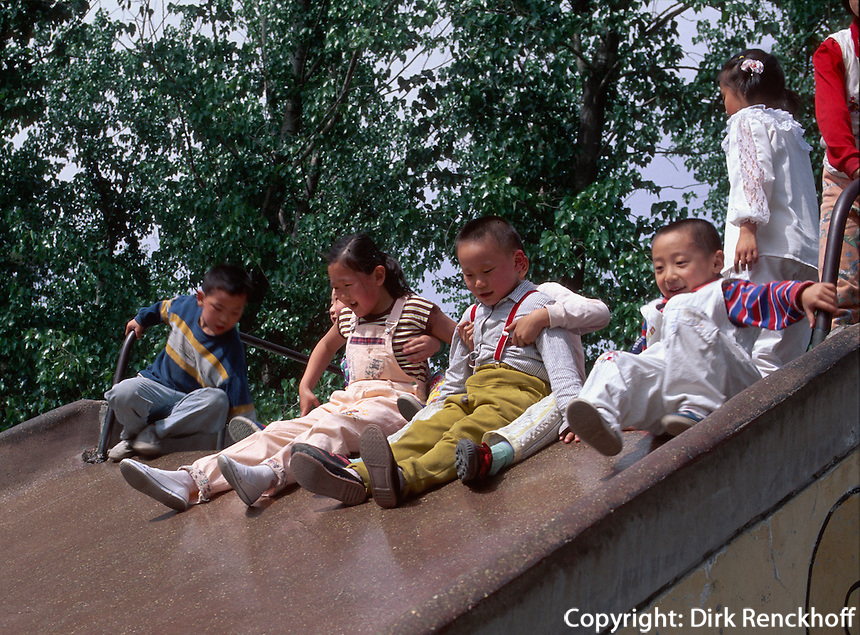 China, Peking, Himmelstempel-Park, Kinderspielplatz