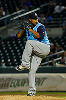 Colorado Springs Sky Sox pitcher Wily Peralta (43) during game two of a Pacific Coast League doubleheader against the Iowa Cubs on August 17, 2017 at Principal Park in Des Moines, Iowa. Iowa defeated Colorado Springs 6-0. (Brad Krause/Krause Sports Photography)