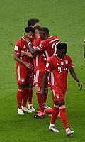 v. l. Serge Gnabry (FC Bayern Muenchen) celebrate the goal, Der Torjubel zum 0:2<br /> <br /> Fussball, Herren, Saison 2019/2020, 77. Finale um den DFB-Pokal in Berlin, Bayer 04 Leverkusen - FC Bayern München, 04.07. 2020, Foto: Matthias Koch/POOL/Marc Schueler/Sportpics.de