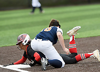 NWA Democrat-Gazette/CHARLIE KAIJO Northside High School Cailin Massey (3) slides to third during the 6A State Softball Tournament, Thursday, May 9, 2019 at Tiger Athletic Complex at Bentonville High School in Bentonville. Rogers Heritage High School lost to Northside High School 8-6