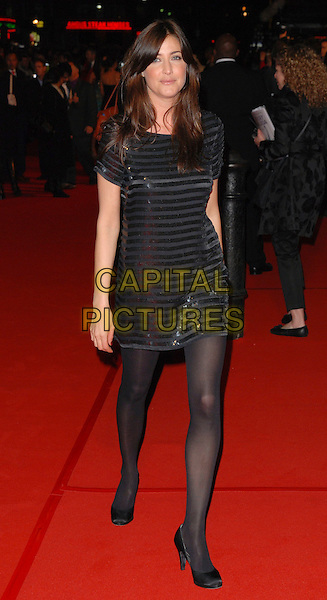 "LISA SNOWDON.Attending the""Rocky Balboa"" Uk Premiere,.Vue West End, London, England,.January 16th 2006..full length black French Connection Serpent striped sequined dress.CAP/CAN.©Can Nguyen/Capital Pictures"